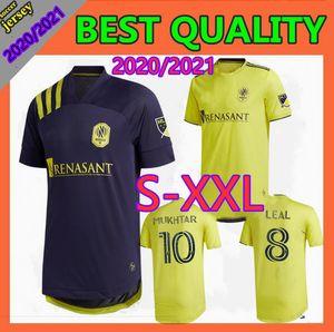 멀리 크기 S-XXL 2020 내쉬빌 SC 축구 유니폼 (20) (21) 창립 MLS LEAL 다니엘 로비츠 도미니크 지목하니 무크 타 홈 축구 셔츠