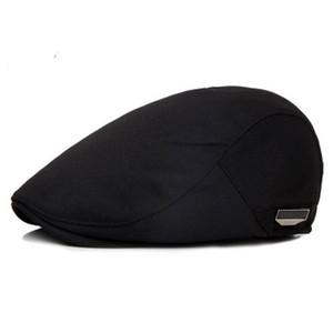 موضة قبعات شقة للرجال قبعة القبعات كاب الصيف عارضة الشمس تنفس القبعات السوداء القبعات سائقة تاكسي أجرة 2018 الفاتحة أوم