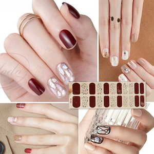 Cheap & Decals NEW 22 Tips Beauty Nails DIY Adhesive Decal Nail Stickers Sliders Decoration Nails Art Accessories for Women Salon