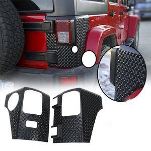 Lámpara posterior del negro Ángulo trasera de la capucha de la cubierta (puntero) para Jeep Wrangler JK 2007-2017 coche Accesorios Exterior