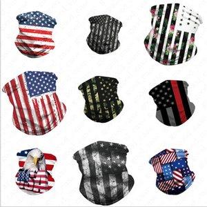 3D American National Flag Printed Gesicht Bandana Breathhalbgesichtsmasken Schal Stirnband Radfahren UV Staub Wind Schutzmaske Maske D52707
