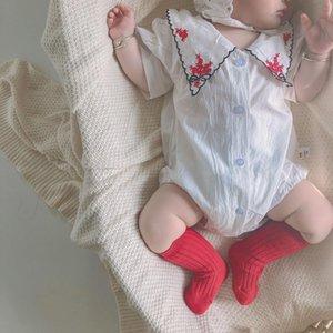 Korean Baby Girl Rompers Embroidery Kids Clothings Sweet Princess Kids Clothings