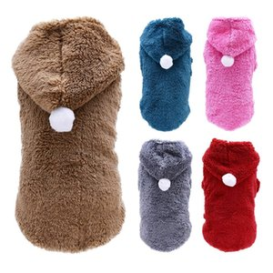 Thickening Pet Winter Overall Cute Puppy Dog Jumpsuit For Small Chihuahua Toy Terrier Yorkshire Winter Warm Tracksuit Clothes