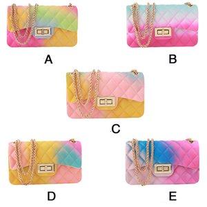 Летняя сумка Женщины Для пляжа Jelly Кошелек градиент цвета ПВХ прозрачный сумки известного бренда Дизайн