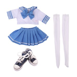 Dolls Uniform With High Top Canvas Shoes For 1 3 BJD Doll Dress Up