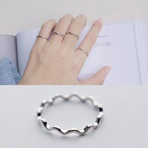 여성 미니멀리즘 웨이브 곡선 dasign 중국 실버 jewellry에 대한 보석 제조 업체 낮은 MOQ 도매 고체 925 스털링 실버 얇은 반지