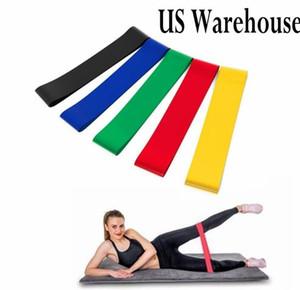 DHL! 5 Renk Elastik Yoga Kauçuk Direnç Spor egzersiz bandı Egzersiz Çekme Halat Stretch Çapraz Eğitim FY4059 sıkmalar Gum Assist