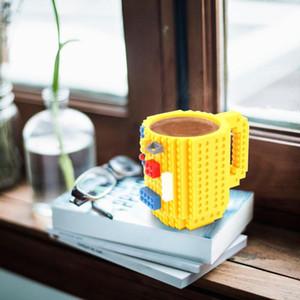 Drinkware des blocs de construction Tasses DIY Block Puzzle Tasse 350ml Build-Brick Creative tasse de tasse de café Mugs