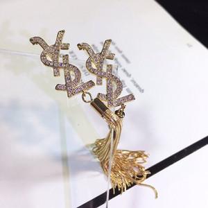 Moda- de luxo designer de jóias mulheres designer brincos cadeia frisado brincos pendurados designer brincos ocasionais desgaste moderna