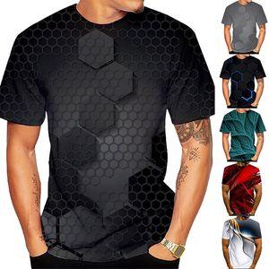 الرجال s مصمم تي شيرت الرياضة تي شيرت 3D التمويه طباعة عارضة قصيرة الأكمام طاقم الرقبة