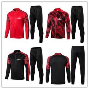 2019 AC Milan tracksuit survetement jacket set 19 20 CALHANOGLU Full zipper soccer jacket sportswear tracksuit