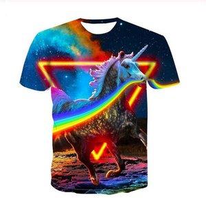 Summer style Shirt rainbow Men Short Sleeve Tee 3D Printed T shirts Men Women Couples shirt S-7XL XS0309