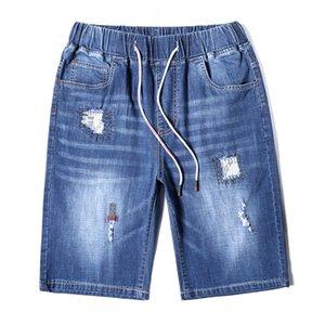 Mens Plus Size Blue Jeans denim pantaloni elastici Estate New Shorts Stretch casual jeans maschile abbigliamento