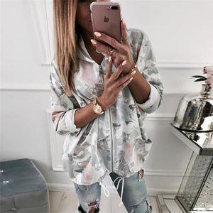 Yeni Kadın Tişörtü Sonbahar Kış Moda Çiçek Yazdır Kadın Hoodie Uzun Kollu Fermuar Sıcak satış Kapşonlu Sweatshirt Casual Dış Giyim