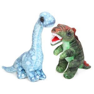 Microplush 20-24cm dinosaurio Simulación juguetes de peluche de dibujos animados almohadas Tyrannosaurus Stegosaurus Spinosaurus relleno suave muñeca animal