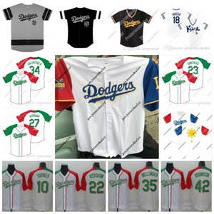 Reis Heritage Noite Jerseys LA Kings Noite Jersey Justin Turner Corey Seager Bellinger Kershaw Max Muncy Hernandez Baseball Jersey