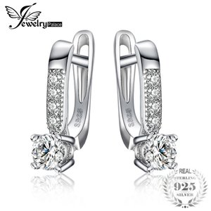 Jewelrypalace 1ct Cubic Zirconia Orecchini Clip 925 Sterling Silver Anniversario di cerimonia nuziale Dei Monili Per Le Donne Fashion Party Regalo C19041201