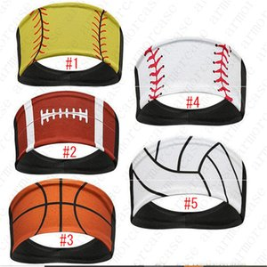 Projetado Softball Headband Baseball Tie Headbands Basketball Sweat Turban Sports Quick Dry Homens e Mulheres Headband cocar D52216