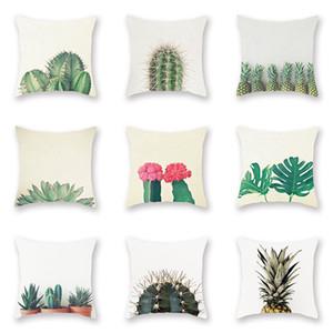 Cactus Botánica Patrones Almohadas Cubierta Restauración Antiguo Peach Velvet Pillowslips Piña Patrón de flor Funda de almohada Venta caliente 4sx L1