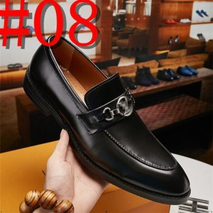 2020 Genuine leather men brogue Business Wedding banquet shoes casual flats shoes vintage handmade oxford shoes for men coffee US6-11