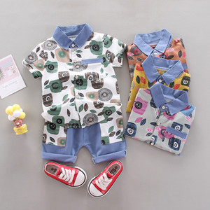 Children's Summer Wear Baby Newborn Sets For Girls Clothes Toddler Kids Boy Clothing Set Short Sleeve Suits Child Clothes Outfit