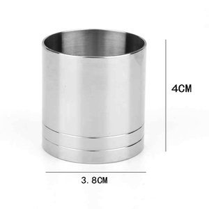 Stainless Steel Durable Thimble Bar Lightweight Wine Kitchen Cylinder Shape Spirit Measuring Cup Party Tool Jigger Practical