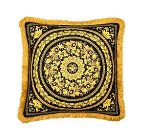 50cm de luxe Medusa baroque coussins décoratif Covers Velvet Europe baroque royal Thicken Tassel Coussin Case Creative Marque Accueil Cojines