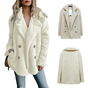 Autumn Winter Women Loose Cardigan Jackets Casual Warm Trench Coats Double-breasted Outwear Designer Jackets For Women Asian S-5XL