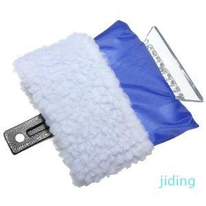 Wholesale-5 PCS JHO-Plastic scraper ice scraper with glove hot - blue