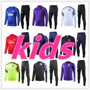 manchester city liverpool arsenal chelsea tottenham manchester united 2019 2020 salah hazard kids soccer training suit kids football tracksuit jacket