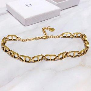 lusso mens designer di gioielli collana di CD mens spessi 14k catene d'oro coppie punk collana di rame bracciale e collana anelli di vestito per le donne