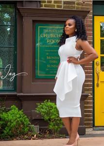 2019 Sexy Black Girl One Shoulder Mantel Abendkleid Short Sheath Abendkleid Knielangen Black Girl Party Cocktail Formal Gown