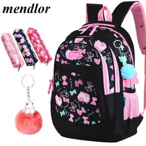 Sacos de escola para crianças meninas mochilas escolares primárias crianças gato dos desenhos animados impressão mochilas crianças princesa sac enfant