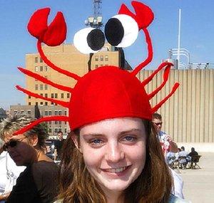 Chapeau De Crabe Rouge Enfants Enfants Adulte Chapeau De Homard Festival Props Company Party Drôle Coiffe Chapeau De Noël Y34