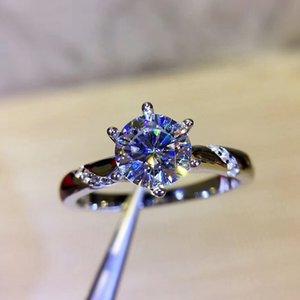 925 Sterling Silber Ring 1ct 2ct 3ct moissanite Ring Schmuck Moissanite Hochzeit Jahrestag klassischer Art nach Maß