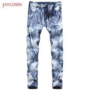 Jaycosin 2020 Yaz İlkbahar Erkekler Jeans Moda Marka ağartılmış Erkekler Jeans Pantolon Yıkanmış Yükseklik Kalite Kalem Pantolon Denim Pantolon