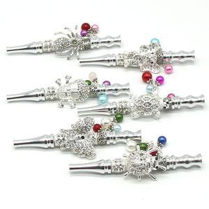 Mano metallo bocchino Multicolor Spot Hookah Shisha tubo di fumo Spider Turtle gufo Beads Pendant riutilizzo vendita calda 14kl D2