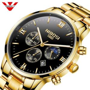 Relogio Masculino Sun Moon Star Style Clock NIBOSI uomini dell'esercito militare orologi da polso al quarzo Mens Watches Top Brand di lusso