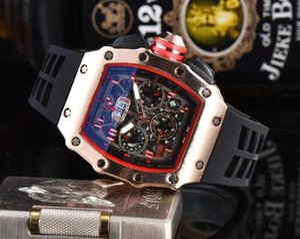 Full Functional All Dials Work military sport style big mens designer watches Top fashion brand luxury men watch black wristwatch male clock