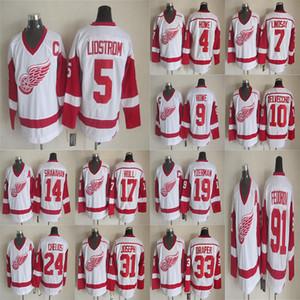 ديترويت ريد وينغز خمر Jersey19 فيدوروف 9 غوردي هو 13 بافل داتسيوك 5 Lidstrom الهوكي جيرسي CCM NHL الفانيلة