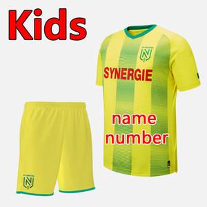 19 20 FC Nantes fútbol de los cabritos cabritos de los sistemas Kit fija 2019 2020 FC Nantes camisa chicos de fútbol uniformes FC Nantes equipos de fútbol juvenil