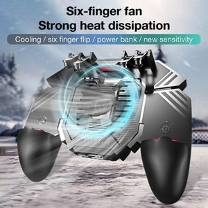 For MEMO New PUBG Controller Helper AK77 Mobile Phone Radiator Handle Water-cooled Fan Six Fingers PUGB Handle Power Bank