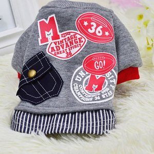Muti-size Autumn and winter new dog pet clothes letter pocket sweater pet supplies thick warm to keep a generation