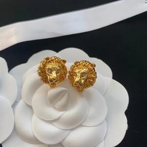 2020 New Diamond testa del leopardo Prepotente personalità Lettera orecchino di tendenza di moda dell'orecchio Orecchini consegna veloce