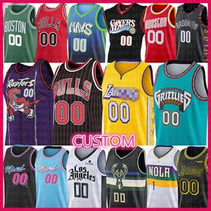 Baloncesto de encargo Jersey Chicago Bulls Los Angeles Clippers LA Memphis Grizzlies Toronto Raptors Miami Heat Mavericks Milwaukee Bucks de 76ers
