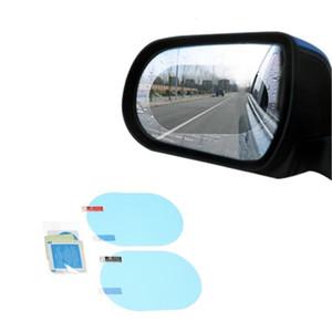 FIRECLUB 2PC Car Rearview Mirror Protective Film Anti Fog Window Clear Rainproof Rear View Mirror Protective Soft Film 150x100mm