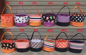 Trick bricolage ou des sacs Treat Halloween Bonbons Seaux tissu fourre-tout sacs-cadeaux pour Halloween Fournitures pour enfants bonbons seau sac fourre-tout