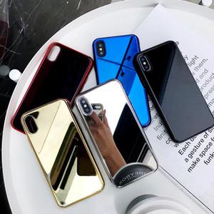 Miroir Plaqué Téléphone De Luxe Designer Mobile iphone XS Max XR X 8 7 6 6 s Plus Couverture Cas Coque caso del Protection