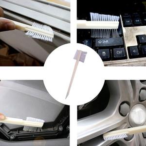 El desengrasado universal de doble cara cepillo de limpieza del motor surco cabeza del cepillo de coches teclado limpieza Hub Car Care Detalle