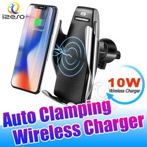 S5 Auto Car Mount Wireless Charger 10W di ricarica rapida Alimentatore da auto Phone Holder per iPhone Pro 11 Samsung A91 con izeso imballaggio al dettaglio